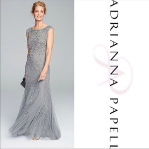 Adrianna Papell size 16w gorgeous beaded gown